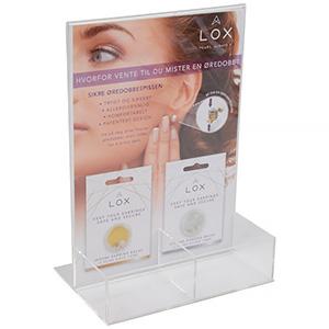 Display for LOX locks (Norwegian text)