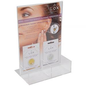 Display for LOX locks (Finnish text)