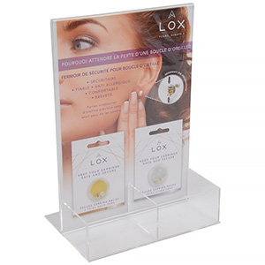 Display for LOX locks (French text)