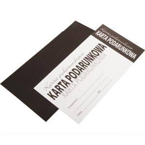 Bon podarunkowy w kopercie Czarna koperta/Polski tekst 150 x 80 PL