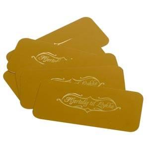 100 Cartes de voeux dorées.