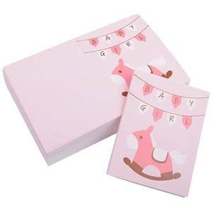 Gift Enclosure Card Baby Girl, 100 pcs