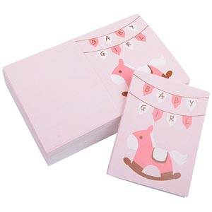Gift Enclosure Card Baby Girl, 100 pcs