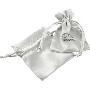 Satinbeutel mini Silber 75 x 90