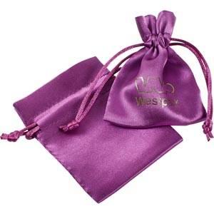 Bourse en satin, taille XS Satin violet 75 x 90