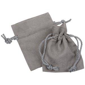 Faux Suede pouch, small