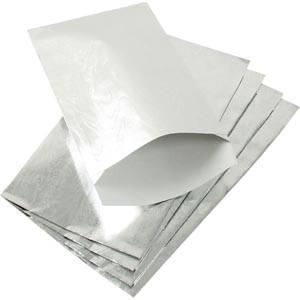 Sachet en papier métallique brillant, 500 pcs Papier en couleur argent 90 x 150 157 gsm