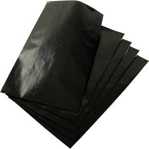 Sachet en papier métallique brillant, 500 pcs Papier noir 120 x 180