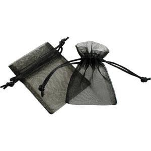 Organza pouch, mini Black 70 x 90
