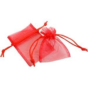 Pochette en organza, taille mini Voile organdi rouge 70 x 90