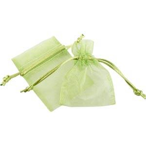 Organza pouch, mini Lime green 70 x 90