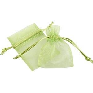 Pochette en organza, taille mini Voile organdi vert citron 70 x 90