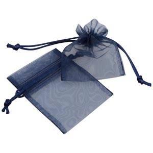 Organza Påse, Mini Mörkblå 70 x 90