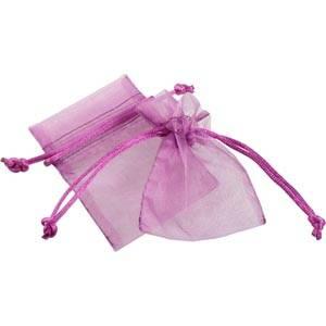 Pochette en organza, taille mini Voile organdi violet 70 x 90