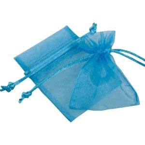 Organza pouch, mini Blue 70 x 90