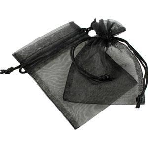 Organza pouch, small Black 90 x 120