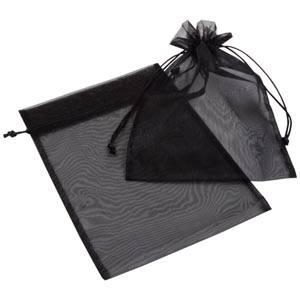 Organza pouch, large Black 180 x 240