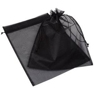 Organza pouch, XL Black 250 x 350