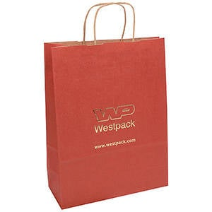 Low-Cost Kraft Paper Carrier Bag, large