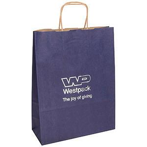 Low-Cost Kraft Paper Carrier Bag, large