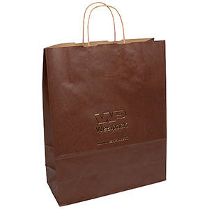 Low-Cost Kraft Paper Carrier Bag, XL