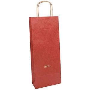 Low-Cost Kraft Paper Carrier Bag, wine bottle