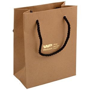Kraft Paper Carrier Bag with Handle, Small