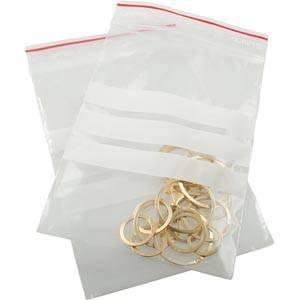 Plastpåsar m. skrivfelt, 1000 stk. 80 X 120 Mm 80 x 120 50 MY