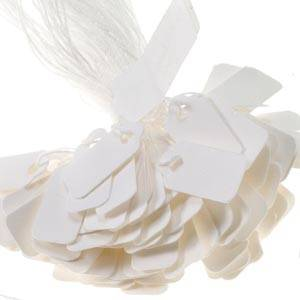 Cardboard string tags, small, 1000 pcs.