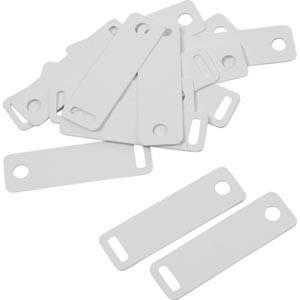 100 Kettenetiketten (Kunststoff), 100 Stück Weiß 38 x 11