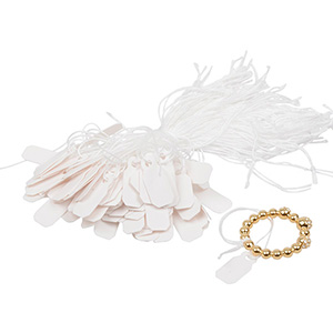 1000 Price Tags with String, Small White 19 x 8