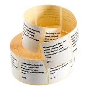 700 Exchange labels (DK), pre printed