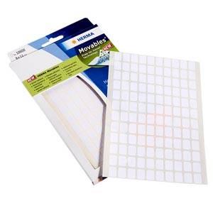 Pochette de 3840 étiquettes en planches, P.M. Blanche 8 x 12