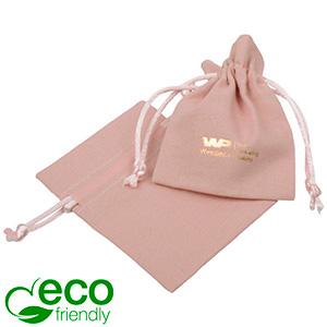 ECO Woreczek bawełniany, mini Bawełna w kolorze brudnego różu, satynowy sznurek 70 x 90
