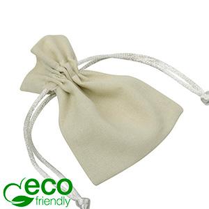 ECO Woreczek bawełniany, mini Bawełna w kolorze piasku, satynowy sznurek 70 x 90