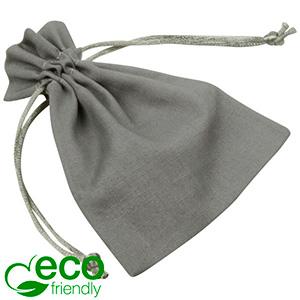 ECO Woreczek bawełniany, mały Szara bawełna, satynowy sznurek 90 x 120