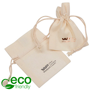 Fairtrade Bomullspåsar, mini Natur 70 x 90