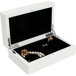 Coffret bijoux en bois vernis 702, laqué blanc