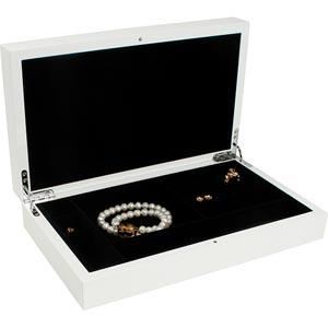 Coffret bijoux en bois vernis  704, laqué blanc