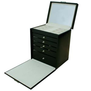 No. 814 - Tall Jewellery Case with 5 Drawers