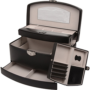 No. 821 - Fold-out Jewellery Case w. Travel Purse