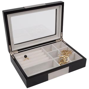 No. 824 Jewellery Case with Glass Lid