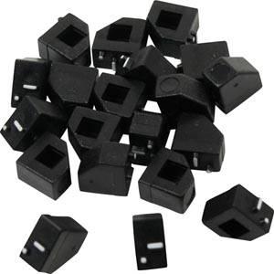 20 st. Kleine Zwarte Prijsblokjes, 5 mm