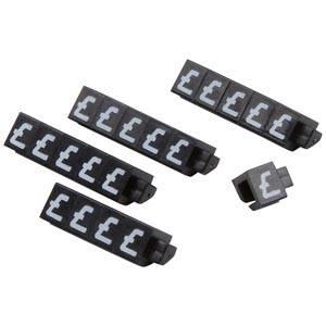 20 Price Cubes, 6 mm (Black)