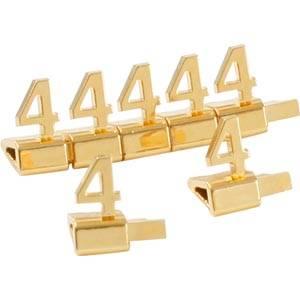 20 st. Luxe Prijsblokjes, goudkleurig