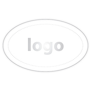 Etiquettes cadeau adhésive 002 - Ovale