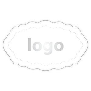 Etiket 003 - Ovaal, met geschulpte rand