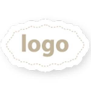Adhesive Logo Label 003 - Oval, scalloped edge