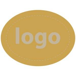 Adhesive Logo Label 004 - Oval