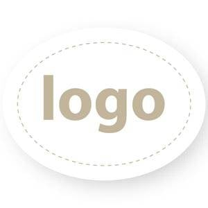 Adhesive Logo Label 004 - Oval